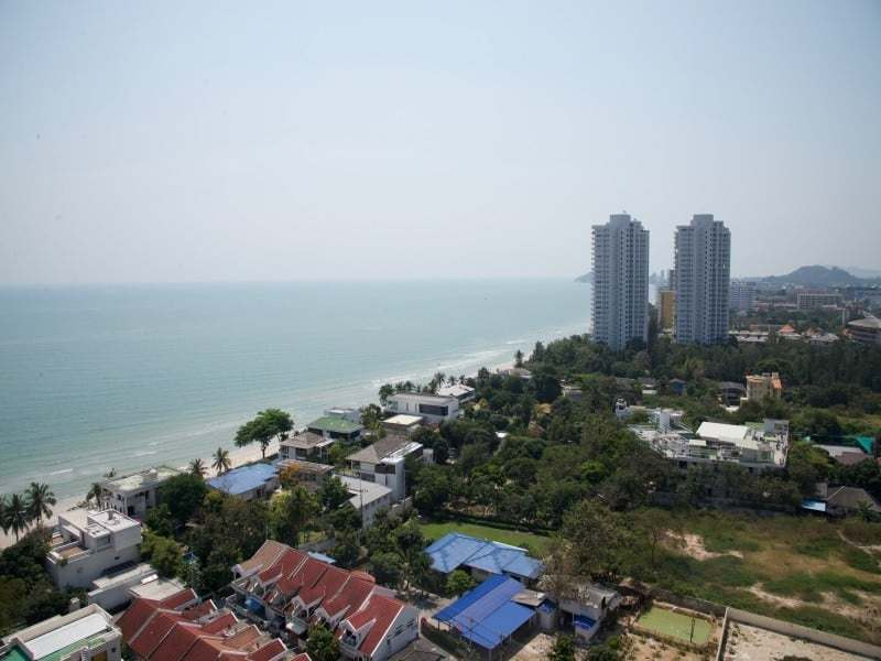 Spacious high floor sea view condo Hua Hin view