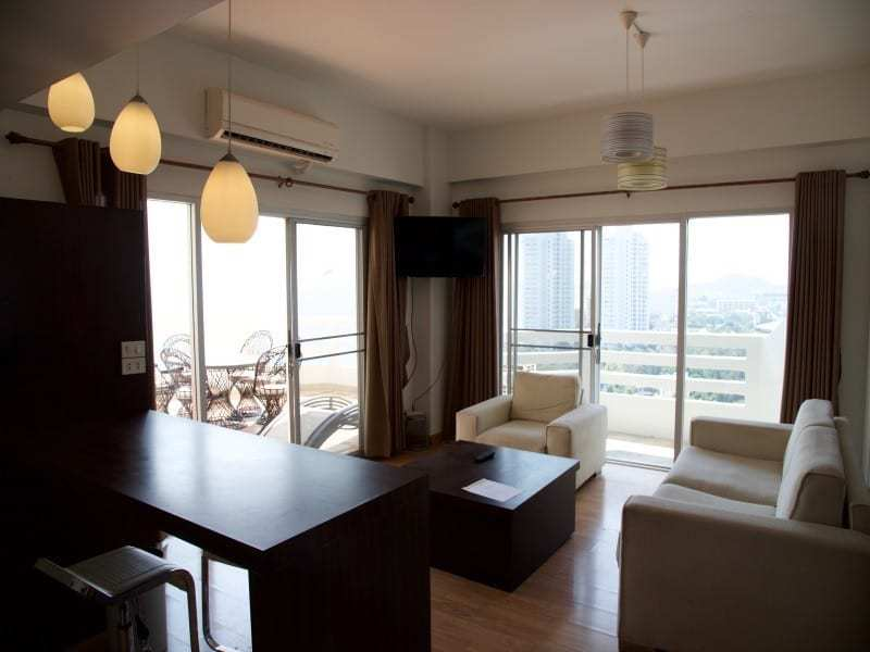 Spacious high floor sea view condo Hua Hin lounge