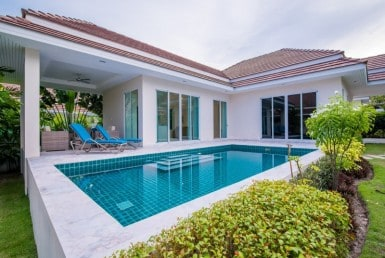 Hua Hin Red Mountain Woodlands villas Type A house view