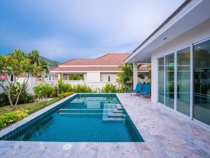 Hua Hin Red Mountain Woodlands villas Type A pool view