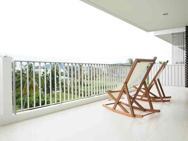 Well sized Hua Hin apartment for sale balcony