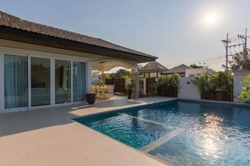 Hua Hin Orchid Paradise Homes show villa for sale pool
