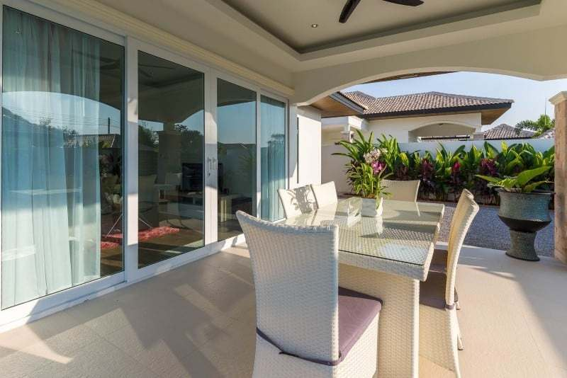 Hua Hin Orchid Paradise Homes show villa for sale terrace
