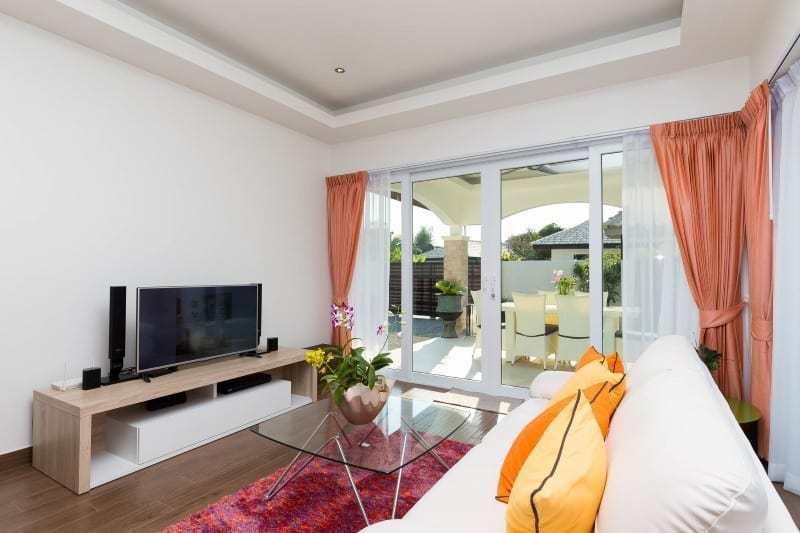 Hua Hin Orchid Paradise Homes show villa for sale patio