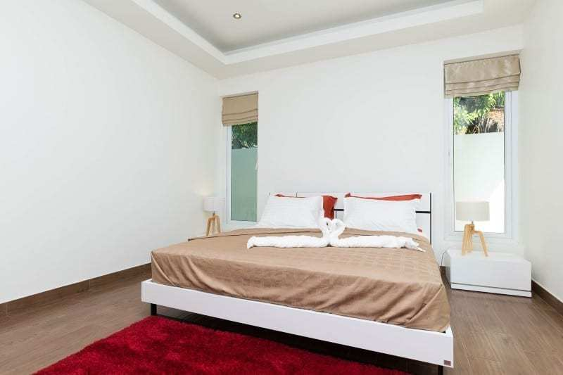 Hua Hin Orchid Paradise Homes show villa for sale master bedroom
