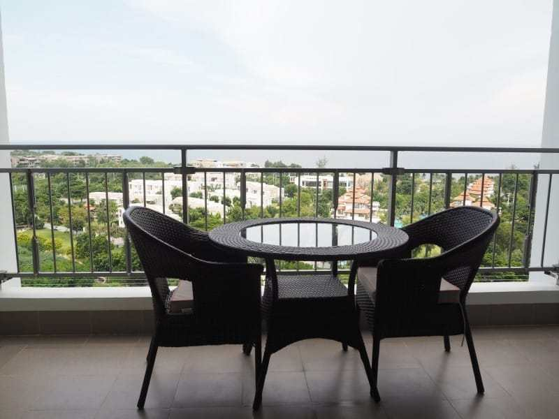 Two bed Boathouse condo for sale balcony