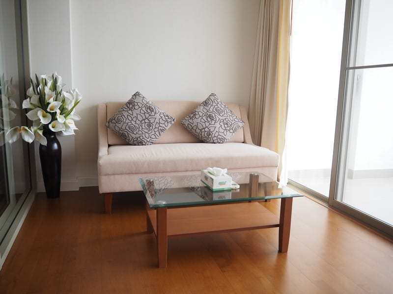 One bed Boathouse apartment for sale lounge