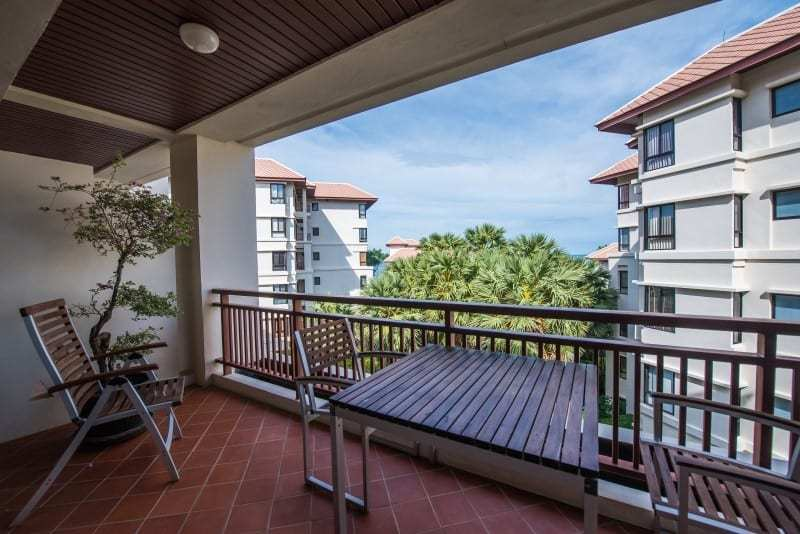 Santipura 4 bed condo for sale Hua Hin balcony