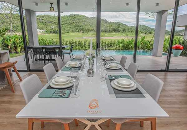 Sansara - Black Mountain Hua Hin - villa dining table