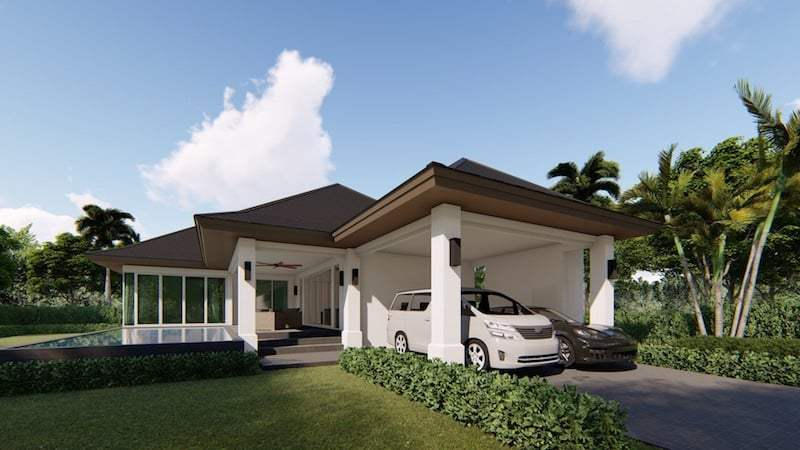 Aria Pool Villas - carport
