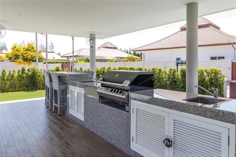 Mali Residence resale with separate guest house - bbq