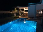 Luxury Mali Prestige pool villa for rent - pool at night