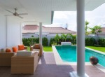 Luxury 3 bed pool villa for rent in Hua Hin - lounge terrace