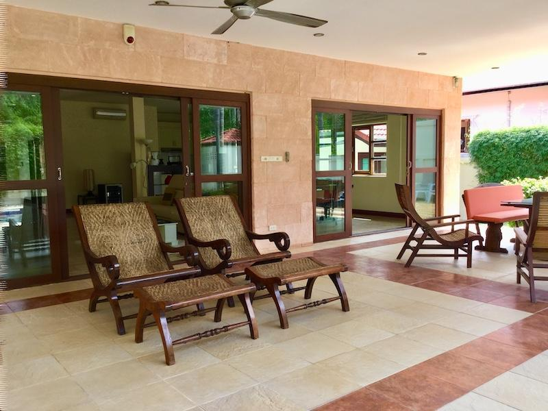 Golf Village villa for sale - sun beds