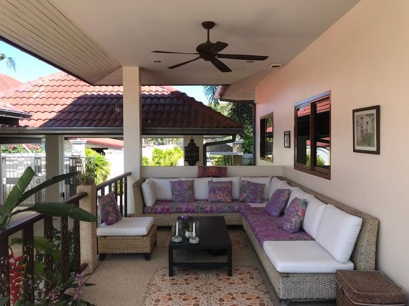 Sunset Village 2 villa for sale on huge plot -covered terrace