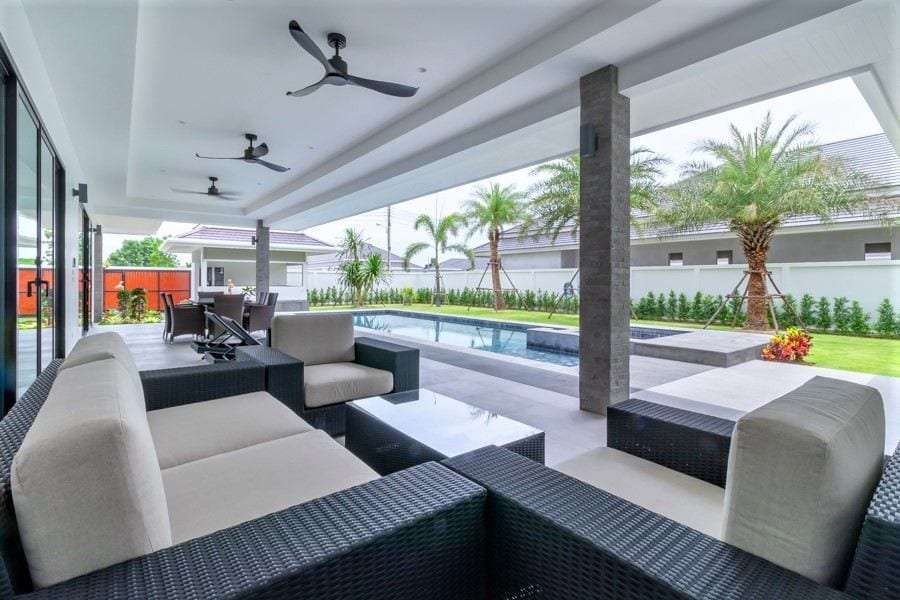 The Clouds villa for sale - covered terrace