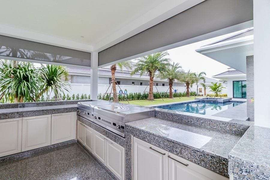 The Clouds villa for sale - bbq