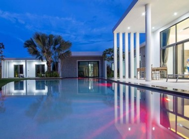Stunning modern villa for sale Sunset Views - nighttime
