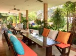 Villa with Sauna and huge pool for sale and rent - outdoor dining