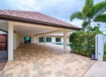 Spacious pool villa for sale close to town - carport