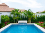 Pool villa in secured development for rent - pool