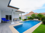 Pool villa in secured development for rent - garden