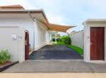 Pool villa in secured development for rent - carport