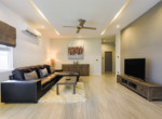 Pool villa in secured development for rent - living room