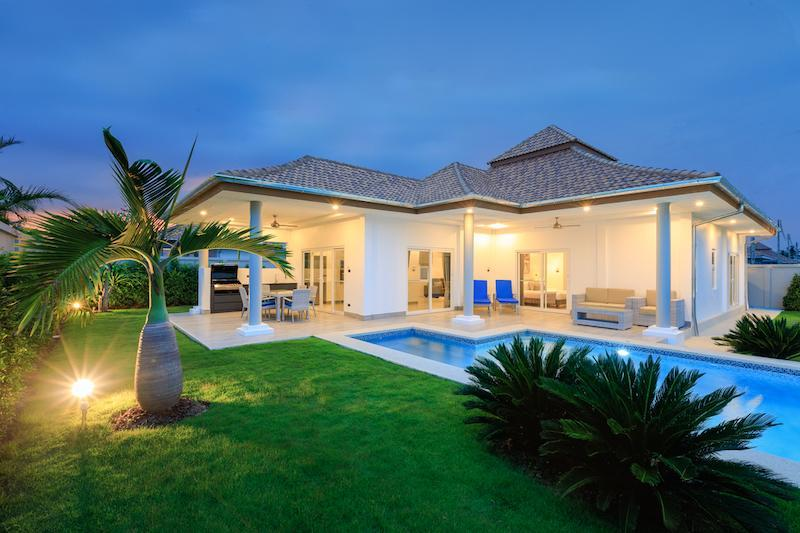 Pool villa in secured development for rent