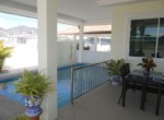 Cha Am pool villa for sale in best location - terrace